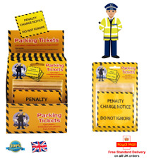 Pack of 6 Fake PENALTY CHARGE NOTICE Parking Ticket Fine Police Prank Fun Toy