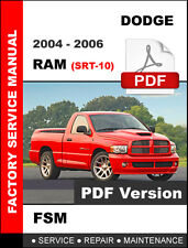 DODGE RAM SRT-10 8.3L VIPER V10 2004 2005 2006 SERVICE REPAIR WORKSHOP MANUAL
