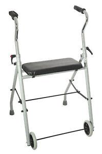 Behrend Rollator für zu Hause Gehhilfe mit 2 Räder faltbar inkl. Sitzfläche