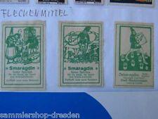 2189 Hackemesser 3x Reklamemarke Smaragdin für die Reise für Sport und Kranke
