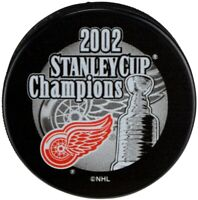 Detroit Red Wings 2002 Stanley Cup Champions Souvenir Hockey Puck