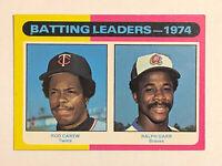 1975 Topps Batting Leaders - 1974 Rod Carew Card #306 NM-MT HOF Minnesota Twins