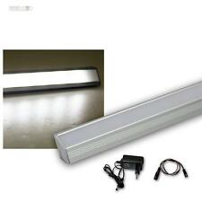 Set Led Varilla Angular de Aluminio 27 Leds Blanco + Transformador Luz Encimera
