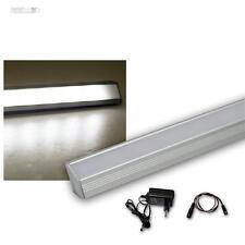 Set LED Alu-Eck-Leiste 27 LEDs weiß + Trafo Unterbauleuchte Küchenlampe Streifen