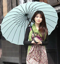 24Rib Travel Windproof Umbrellas Anti-Rain Golf Straight Umbrella Bridal Parasol