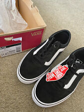 New Vans Milton Low-Top Sneakers (Suede Canvas) Black/White UK Size 10