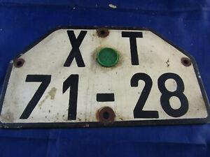 DDR Nummernschild Kennzeichen KFZ Schild Motorrad IFA MZ Simson + TÜF-Plakette
