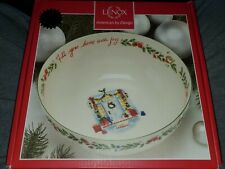 """Nib Lenox """"Fill Your Home With Joy"""" Christmas Bowl ~Msrp $60 ~10 inch"""