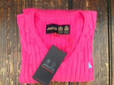 Musto Anna Cable Knit V Neck Jumper - Size 12 - RRP £79.99!!