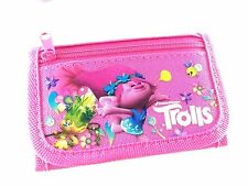 Brand New Dreamworks Trolls Wallet Tri Fold Kids Authentic Licensed NWT- Pink