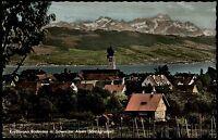 Kreßbronn Bodensee Colorkarte ~1960/70 Panorama mit Schweizer Alpen Säntisgruppe