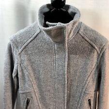 Banana Republic Womens Coat Small Jacket Cocoon Moto Zip Wool Gray