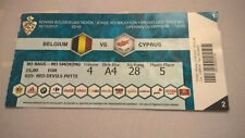 TICKET : BELGIUM - CYPRUS 10-10-2017 WORLD CUP 2018 QUALIFICATION