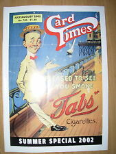 CARD TIMES MAGAZINE FORMERLY CIGARETTE CARD MONTHLY No 146 JULY / AUGUST 2002