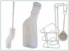 Urinflaschen Set Urinflasche klar, Halter mit Deckel und Urinflaschenbürste