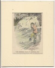 Vintage 1920 Punch  FISHING Cartoon ready for framing