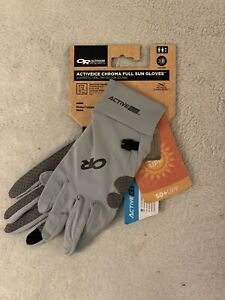 OR Activeice Chroma Full Sun Gloves Alloy Size MNEW