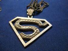 Superman Big Chunky Necklace Grandmas Estate 925 Sterling Silver