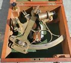 Antique 19th Century Sextant In Fitted Box, T.L. Ainsley, South Shields England