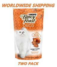 Purina Fancy Feast Duos Cat Treats Chicken Flavor 2.1 Oz TWO PACK WORLD SHIPPING