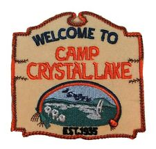 """Friday the 13th Movie Welcome to Camp Crystal Lake 3 1/2"""" Embroidered Patch"""