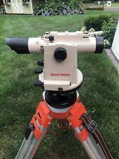 David White Lt8 300p 26x Transit Level With Case And Optical Plummet 8871