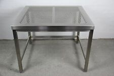 EDELSTAHL LABORTISCH REINRAUM TISCH V2A STAINLESS STEEL LAB TABLE 100x90x77 #1