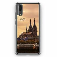Huawei p20 Hard Cover Housse Panorama Cologne Cologne DOM Motif Design Skyline Silho