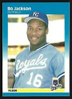 BO JACKSON 1987 Fleer Baseball Card #369