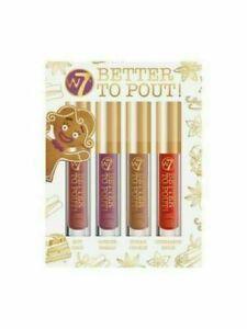 W7 Better To Pout Lip Gloss Set 4 Mini Scented Lip Gloss