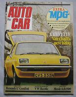 Autocar 15/3/1975 featuring Renault 17 Gordini, Moskvich, Vauxhall Chevette