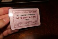 1965 PITTSBURGH STEELERS DRESSING ROOM PASS VERY RARE NFL