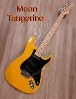 "Elite ® Strat Pro Style Guitar "" Mean Tangerine "" ,Hot Mods w/ Z-Mules® Mod'd"