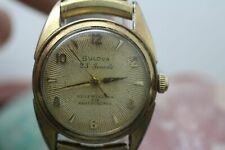 Vintage Bulova Self Winding 23j Gold Tone Wrist Watch For Parts/Repair A664447