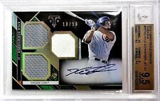 Kyle Schwarber 2016 Topps Triple Threads Emerald Jersey Auto RC 18/50 BGS 9.5