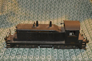 O SCALE 3 RAIL CAST WESTERN MARYLAND SW-1 SWITCHER POWERED WITH E-UNIT REVERSE