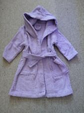 BNWT Girls hooded purple 100% cotton bath robe dressing gown ~ 2-3 years