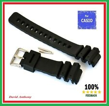 Fits CASIO G SHOCK DW6900/6600 GW6900 WATCH. 16MM-25MM Black Rubber Strap B