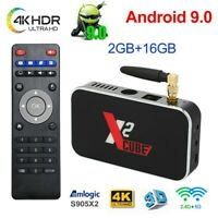X2 CUBE 4K S905X2 Quad Core Android 9.0 TV BOX 2.4&5G WiFi HD 1080P Media 2G+16G