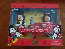 Tommy & Kelly as Mickey and Minnie Doll 2002 Mattel Nib Disney Collector Edition