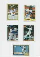 1990-92 Ken Griffey Jr Baseball 5 Card Lot Seattle Mariners HOF.