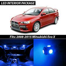 2008-2015 Mitsubishi Lancer Evolution X Blue Interior LED Lights Package Kit
