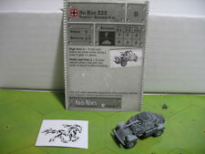 Axis & Allies Base Set Sd Kfz 222 with card 34/48
