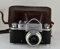 "RUSSIAN USSR ""ZENIT-C"" SLR camera + INDUSTAR-50 lens, f3.5/50mm (2)"