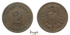 Deutsches Kaiserreich, 2 Pfennig 1873 C, Jaeger 2, 3,15g., s