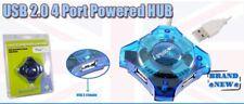Pluscom USB 2.0 Powered Hub 4 Ports Expansion For Laptop, PC's Rrp £9.99!!!
