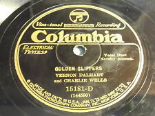 Vernon Dalhart and Charlie Wells: Golden Slippers / When The Moon Shines Down 78