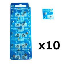 10 x Renata 379 1.55v Watch Cell Batteries SR521SW Mercury Free