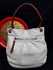 ROOTS CANADA OLIVIA LARGE WHITE LEATHER SHOULDER TOTE BAG 5f95d2c09a57a