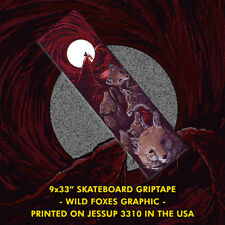 Foxes Skateboard Griptape 9x33 (Mob - Jessup - Grizzly - Animal - Dog - Cat)